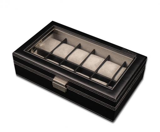 Шкатулка для хранения 12-ти часов Leather 012BL