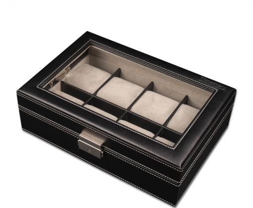 Шкатулка для хранения 8-ми часов Leather 08BL