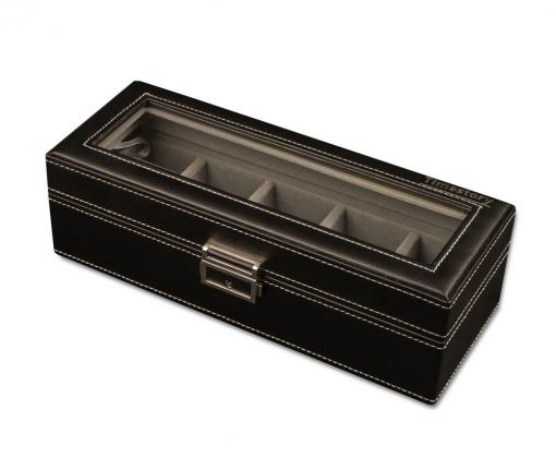 Шкатулка для хранения 5-ти часов Leather 05BG